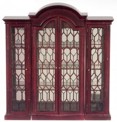 3 Piece China Display Cabinet in Mahogany by Town Square Miniatures