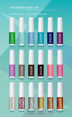 NOVIDADE - A Hits acaba de aumentar a família Sadok! São 18 novas cores com alta cobertura nesse vidro para lá de fofo! Eu amei e você? www.fascinioporesmaltes.com