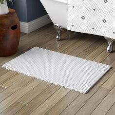 Beautiful Abdullah Yarn Dyed Cotton Chenille Chain Stitch Bath Rug by George Oliver Rugs Home Decor Furniture from top store Transparent Latex, Home Decor Furniture, Furniture Sale, Furniture Ideas, Modern Furniture, Bath Towel Sets, Laundry In Bathroom, Chain Stitch, Stitch Design
