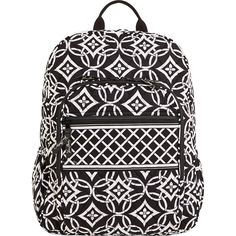 Vera Bradley Campus Backpack found on Polyvore featuring bags, backpacks, accessories, red, school & day hiking backpacks, knapsack bags, backpacks bags, rucksack bag, vera bradley bags and zip top bag