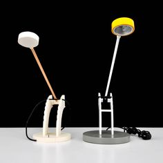 Lawrence Laske Prototype Lamp and Model, 1987   From a unique collection of antique and modern table lamps at https://www.1stdibs.com/furniture/lighting/table-lamps/