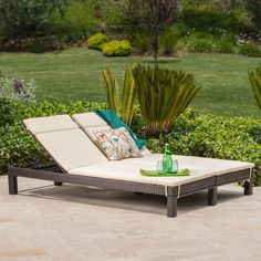 Cabana Patio Furniture Best Of Amour Outdoor Dual Wicker Chaise Lounge W Water Resistant Cushions Wicker Furniture, Outdoor Furniture, Outdoor Decor, Outdoor Ideas, Backyard Furniture, Patio Ideas, Outdoor Living, Patio Chaise Lounge, Double Chaise Lounge Outdoor