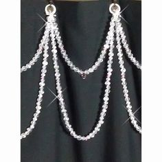 Double Swag Soft Crystal with One Accent color......Shower Curtain Bling on Etsy, $45.95