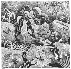 Plane Filling Motif with Reptiles - M.C. Escher - WikiPaintings.org