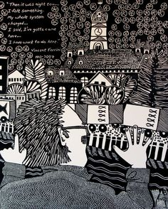 Then it was Night Too...Linocut Printmaking by StageFortPress, $250.00