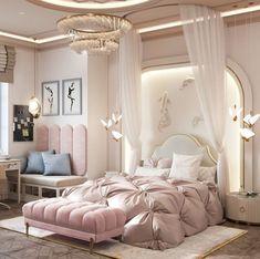 Girl Bedroom Designs, Girls Bedroom, Bedroom Decor, Mansion Interior, House Design, Mansions, Interior Design, Architecture, Elegant