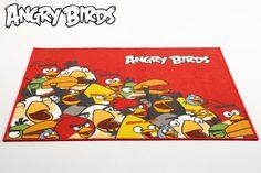 ANGRY BIRDS -matto 100X120 cm punainen - Lasten matot   Sotka.fi