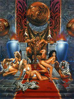 Conan's Throne Room by Joe Jusko