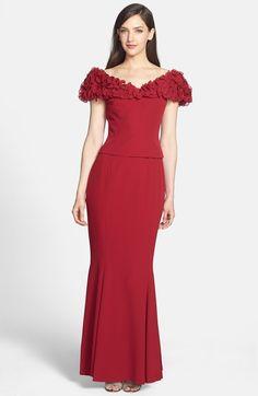 Daymor Crepe Ruffle Dress