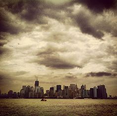 NY-Manhattan vista desde el mar