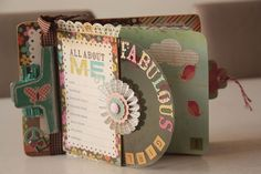Cute Mini album using a clipboard by Simple Stories.