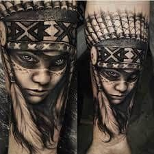 What does indian tattoo mean? We have indian tattoo ideas, designs, symbolism and we explain the meaning behind the tattoo. Tattoos Masculinas, Skull Tattoos, Trendy Tattoos, Life Tattoos, Tattoos For Guys, Sleeve Tattoos, Cool Tattoos, Tattos, Native American Tattoos