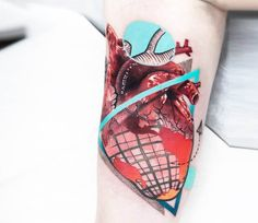 Heart tattoo by Chris Rigoni