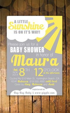 You Are My Sunshine Shower Invitation by RJGraphicArts on Etsy