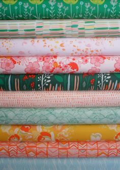 Fabricworm Giveaway!  This week we're giving away a fat quarter bundle of Meadow's Picnic in the Hills by Leah Duncan!