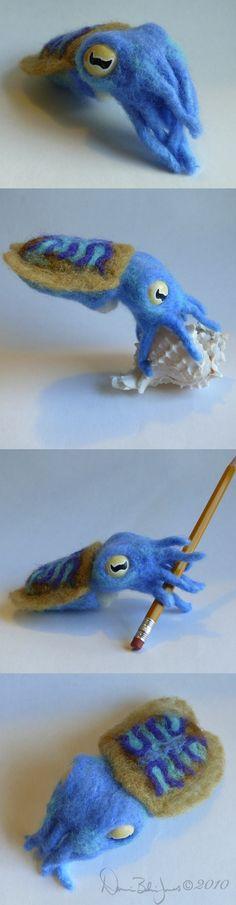 Blue Baby Cuttlefish by ~FamiliarOddlings on deviantART