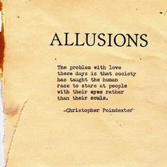 Christoper Poindexter quotes. Allusions