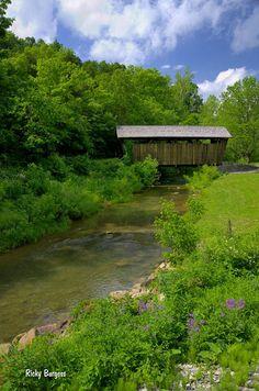 Covered Bridge in Monroe County, West Virginia by Rick Burgess