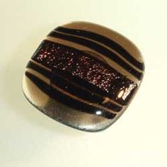 Windborne Studios Classic Glass Cabinet Knobs - Bronze Stripe