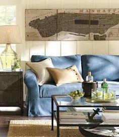 denim sofa/slipcover  - mine is getting worn/faded - love it even more