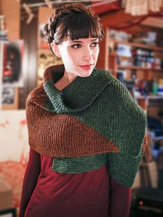 "Get wrapped up in an interesting to knit project! Bal Bullier is an easy wrap knitting pattern worked entirely in garter stitch. If features quick-knit Berroco Ultra Alpaca Chunky yarn. Choose your two favorite colors and start knitting! Skill Level: Easy Completed Wrap Measures: 50"" long x 18"" wide You will need: * 3 hanks Berroco Ultra Alpaca Chunky yarn #7277 Peat (MC) * 2 hanks Berroco Ultra Alpaca Chunky yarn #7279 Potting Soil Mix (CC) * Size US 10 circular 24-32"" ..."