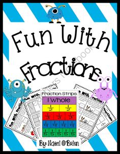 Fraction Fun for 2nd Grade from Read Like A Rock Star on TeachersNotebook.com -  (41 pages)  - This fun fraction pack is a great place for students beginning to learn fractions!