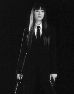 #ChiakiKuriyama in #KillBill -- #BlackTie