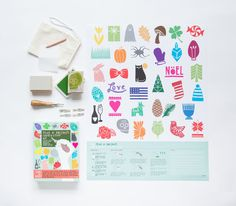 Holiday DIY - carve a stamp using the one of a kind holiday themed templates. Customize cards, invitations, place settings, and more!