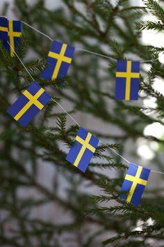 Julpynt - Julgransgirland - Flaggor