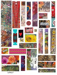Collage Sheet-Free To Use by Becky F, via Flickr