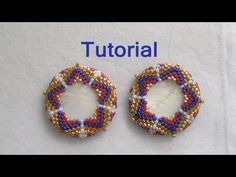 Beaded Bezel Tutorial: How to bezel a disc with beads (Peyote Stitch)
