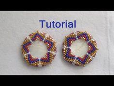 Beaded Bezel Tutorial: How to bezel a disc with beads (Peyote Stitch)