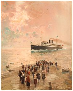 Austro Hungarian, Shipping Company, Spa, Posters, Gallery, Painting, Image, Italia, Ships