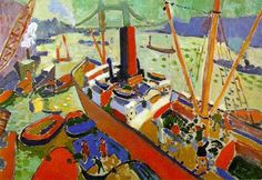 """Cargo in the Pool of  London"", 1906,  by André Derain"