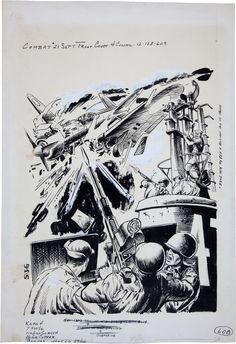 Original Comic Art:Complete Story, Sam Glanzman Combat #21 Cover Original Art (Dell, 1966).... Image #1