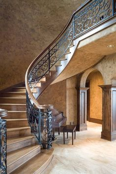 The Lacombe.  Elegant Curved Stairs.