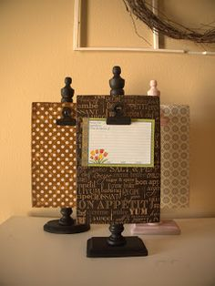 While visiting my family in Arizona, my sister showed me how to make these super cute photo/recipe holders. I love them because they are r...