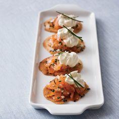 Smoked Salmon Crisps // More Salmon Recipes: http://www.foodandwine.com/slideshows/salmon #foodandwine