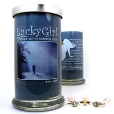 lucky girl candles with a surprise is side  Date night http://www.lgcandles.com/CarolHenley.
