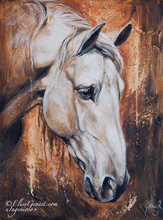www.thewarmbloodhorse.com white horse art