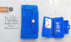 #nvgtrWallet 'Women - March Blue, 100% Genuine Suede. IDR 145K. SMS / WhatsApp: 08562101653.