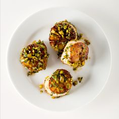 Pistachio-Crusted Scallops from Bon Appetit