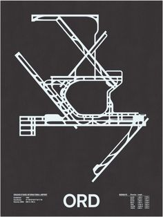 Airport Runway Map by Nomo Design