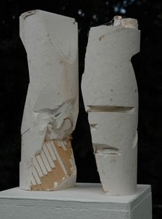 Plaster Sculpture 'Two figures Conversing' by Douglas Jeal, 2004