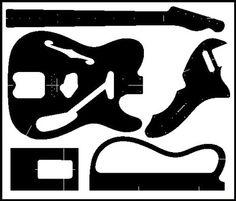 tele template templates guitar telecaster bass guitar body. Black Bedroom Furniture Sets. Home Design Ideas
