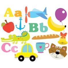 Alphabet Clipart - ABC - Clipart & Vector Set - Instant Download - Personal and Commercial Use