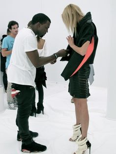 kanye west, fashion designer.