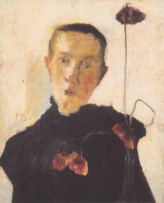 The Athenaeum - Portrait of a Woman with Poppies (Paula Modersohn-Becker - )