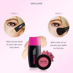 ¿Eres de las que prefiere un look de maquillaje sencillo y natural? ¡Lógralo en 2 sencillos pasos! #Rubor #Base #Rostro #MakeUp #Facciones