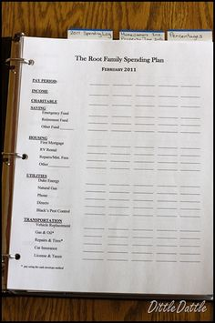 budgeting tips. (including budgeting worksheets already created!) Dave Ramsey Spending Plan